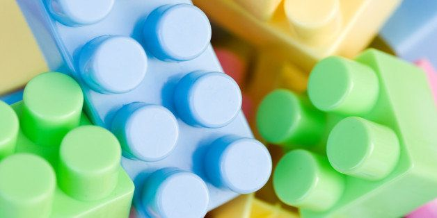 close up of colorful plastic...