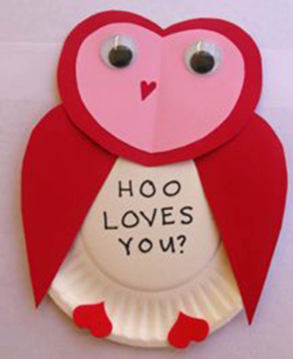 valentine owl craft free preschool crafts - 814×1000
