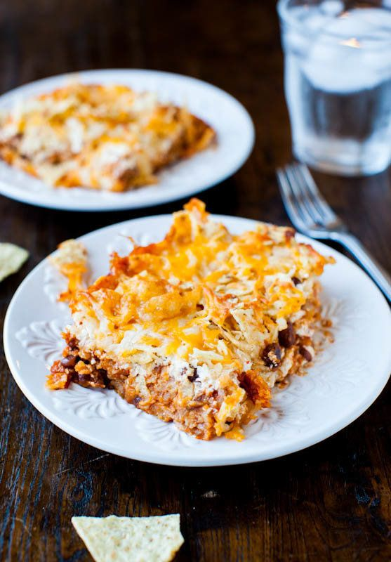 """<strong>Get the <a href=""""http://www.averiecooks.com/2012/05/chips-and-cheese-chili-casserole.html"""" target=""""_blank"""">Chips And"""