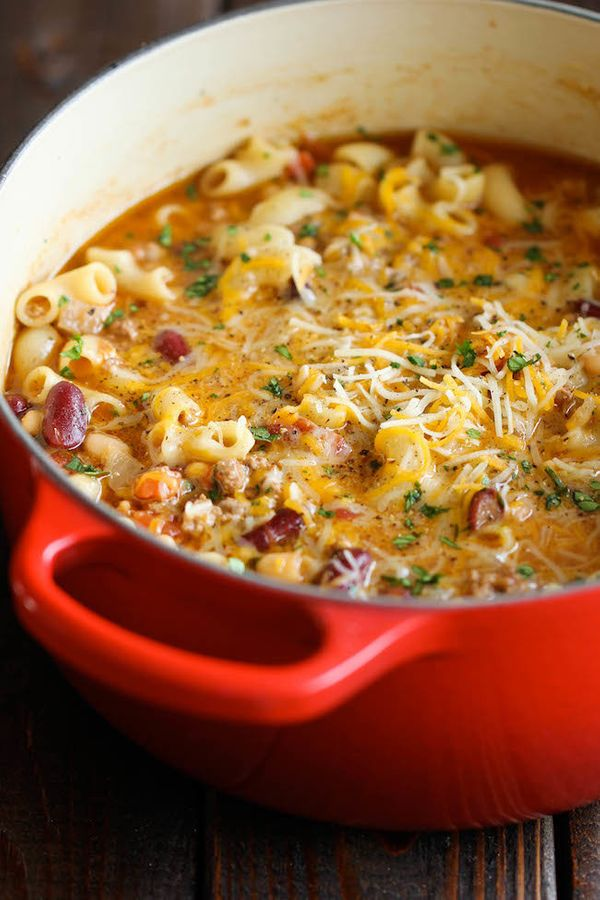 """<strong>Get the <a href=""""http://damndelicious.net/2014/03/15/one-pot-chili-mac-cheese/"""" target=""""_blank"""">One Pot Chili Mac And"""