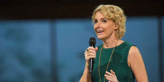 SEATTLE, WA - NOVEMBER 08:  Author Elizabeth Gilbert speaks on stage during 'Oprah's The Life You Want Weekend' at KeyArena on November 8, 2014 in Seattle, Washington.  (Photo by Mat Hayward/Getty Images)