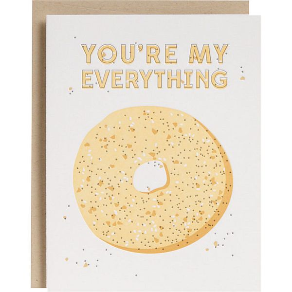 "Buy it <a href=""http://www.papersource.com/item/Youre-My-Everything-Bagel-Valentine-Card/3901_008/569806.html"" target=""_blank"