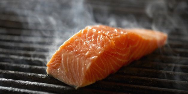 The Truth About That White Stuff Oozing Out Of Your Salmon And