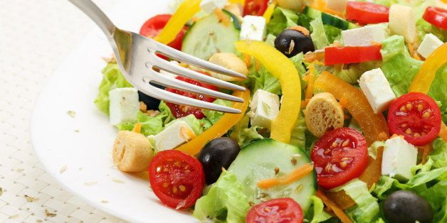 salad of white cheese on a table
