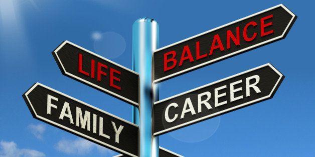 life balance signpost showing...