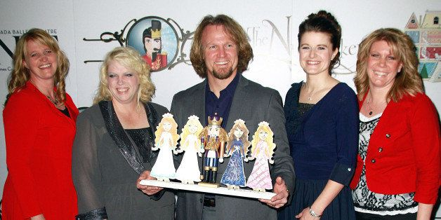 LAS VEGAS, NV - DECEMBER 15:  Cast of TLC's 'Sister Wives' Christine Brown, Janelle Brown, Kody Brown, Robyn Brown  and Meri Brown attend the Nevada Ballet Theatre's Production of 'The Nutcracker' opening night performance at the Smith Center on December 15, 2012 in Las Vegas, Nevada.  (Photo by Marcel Thomas/FilmMagic)