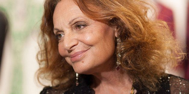 LOS ANGELES, CA - DECEMBER 21:  Diane von Furstenberg attends the 'House of DVF' Season Finale with Diane von Furstenberg at The Grove on December 21, 2014 in Los Angeles, California.  (Photo by Gabriel Olsen/Getty Images)