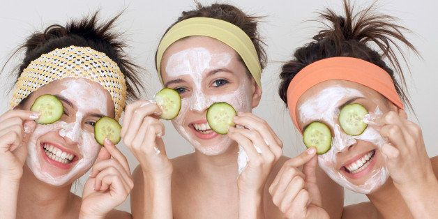 Teenagers Having Facials