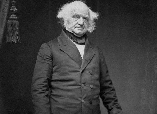 """You know you've done some next-level drinking when you're tagged with the nickname, """"Blue Whiskey Van."""" Van Buren was renowne"""