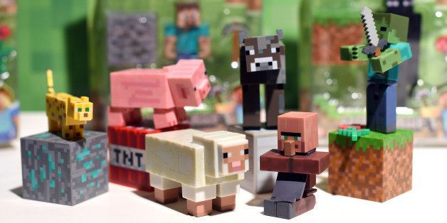 LONDON, ENGLAND - NOVEMBER 05:  Minecraft Figures is named one of the top 12 Dream Toys at the Dream Toys Launch on November 5, 2014 in London, England.  (Photo by Karwai Tang/WireImage)