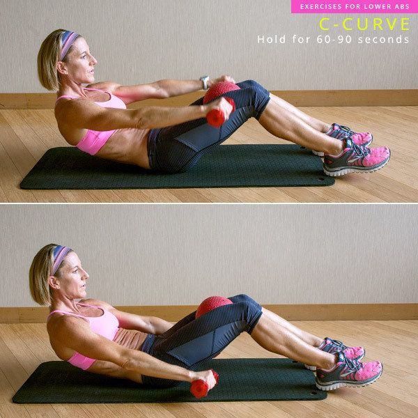 This exercise is a great standard move to keep on hand that lengthens and takes pressure off the lower back, which ab workout