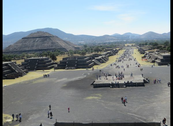 From atop the Temple of the Moon at Teotihuacan, outside Mexico City