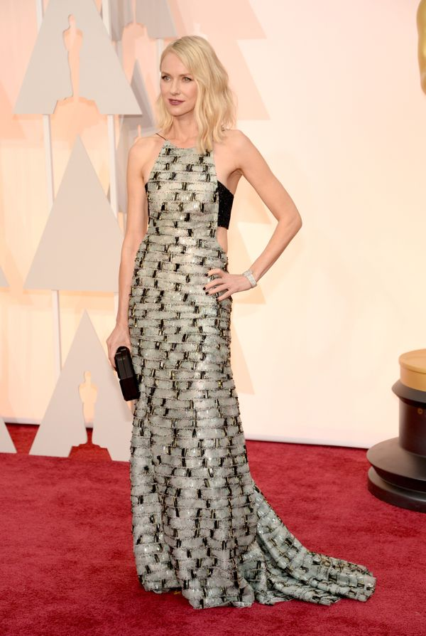 Watts' graphic gown is a refreshing change on the red carpet. The cut-outs and delicate straps help to make this dress Oscars