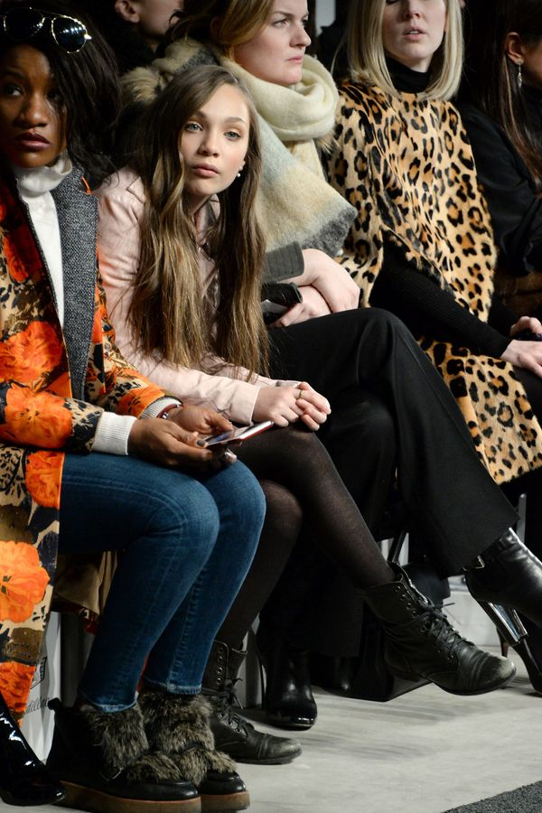 Maddie Ziegler attends the J. Mendel fashion show