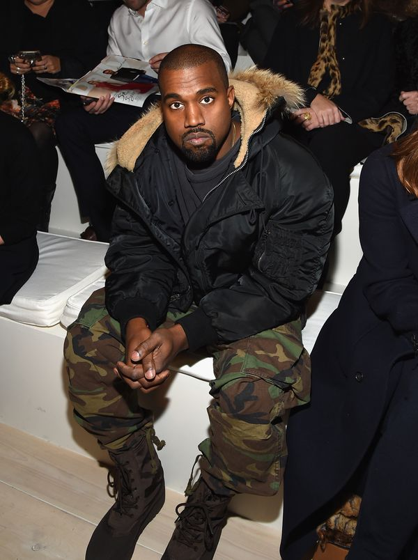 Kanye West attends the Ralph Lauren fashion show