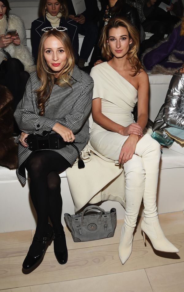 Harley Viera-Newton and Lauren Remington Platt attend the Ralph Lauren fashion show