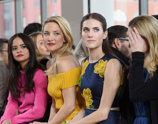 Sophie Lopez, Kate Hudson and Allison Williams attend the Michael Kors fashion show