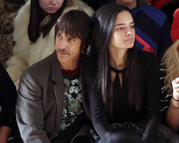 Anthony Kiedis attends the Jeremy Scott fall 2015 fashion show