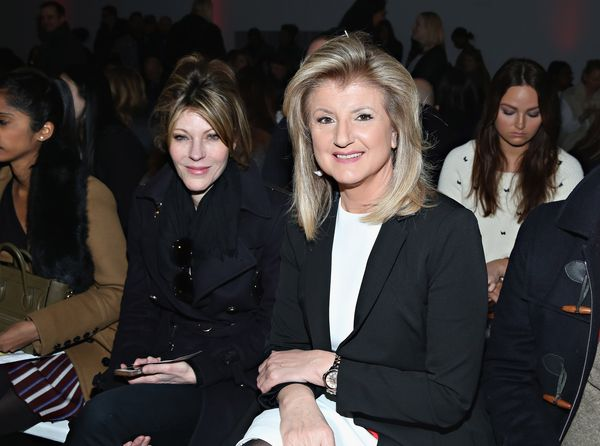 Robbie Myers and Arianna Huffington attend the Nanette Lepore fashion show