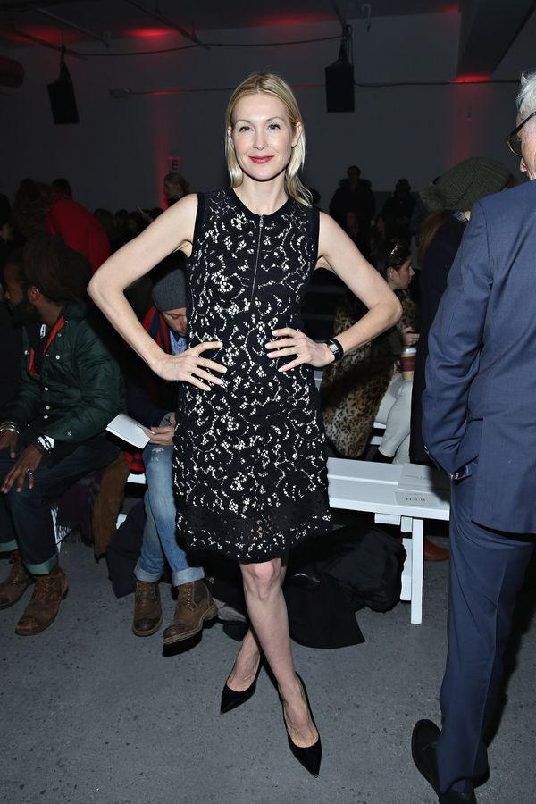 Kelly Rutherford attends the Nanette Lepore fashion show