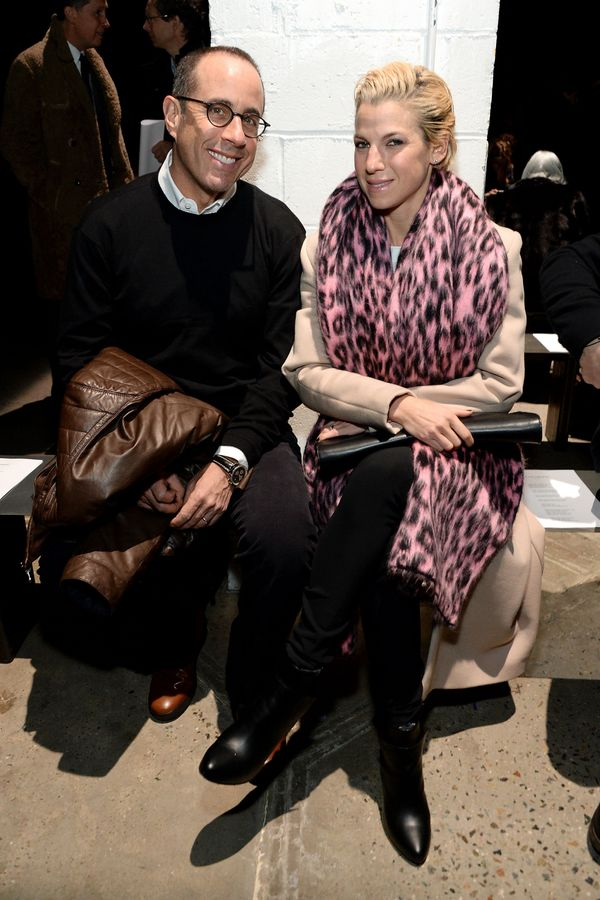 Jerry Seinfeld and Jessica Seinfeld attend the Narciso Rodriguez fashion show