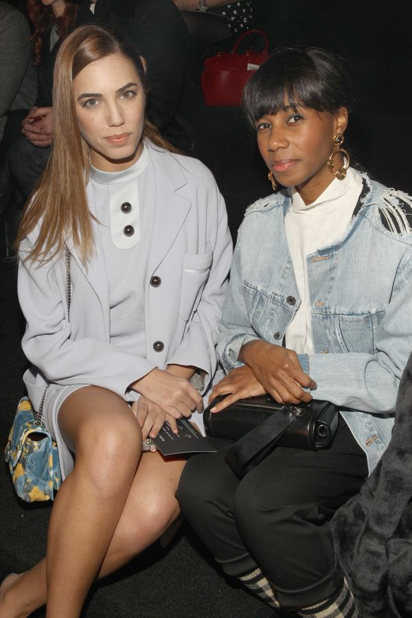 Simon Le Bon and Santigold attend the Marc By Marc Jacobs fashion show