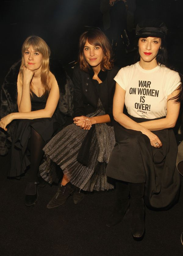 Tennessee Thomas, Alexa Chung and Sarah Sophie Flicker attend the Marc By Marc Jacobs fashion show