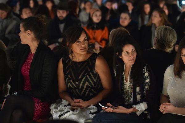 Mariska Hargitay and Amanda Ross attend the Lela Rose fashion show