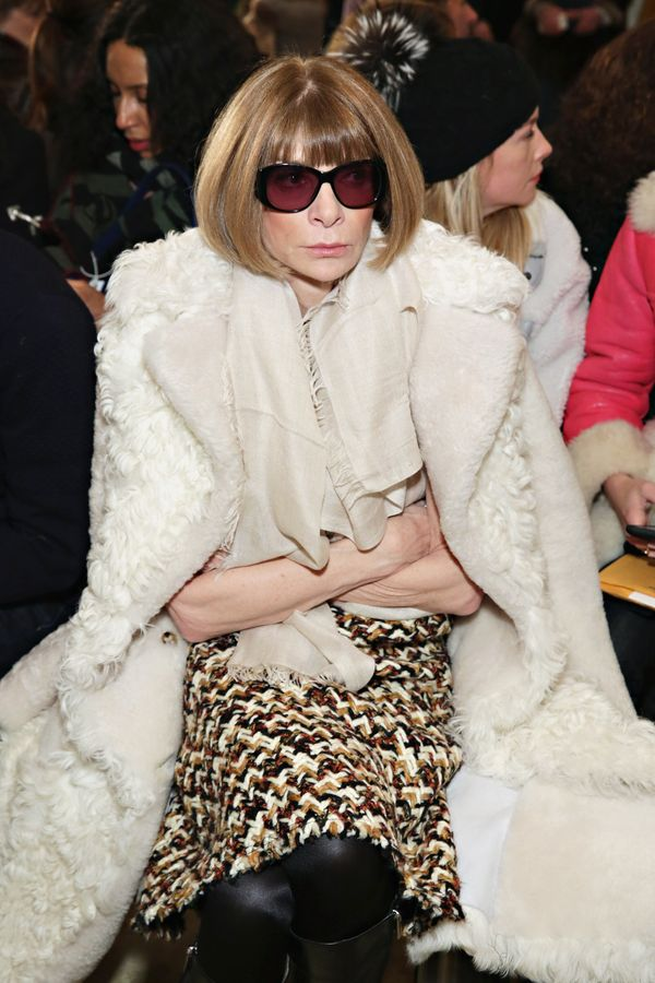Anna Wintour attends the Tory Burch fashion show