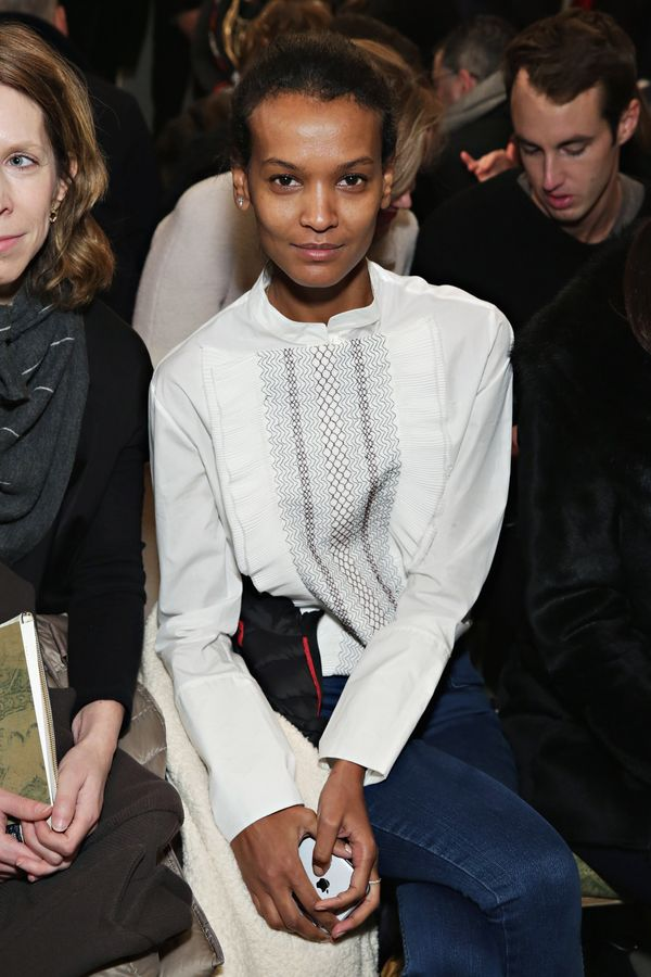 Liya Kebede attends the Tory Burch fashion show