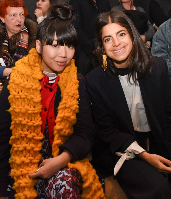 Susie Lau and Leandra Medine attend the Rag & Bone show