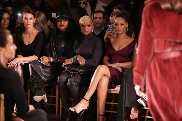 Uzo Aduba, Katie Holmes, Mary J. Blige and Rihanna attend the Zac Posen fashion show