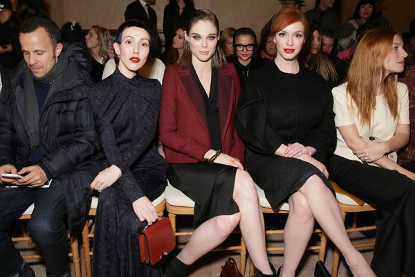 Michelle Harper, Coco Rocha and Christina Hendricks attend the Zac Posen fashion show