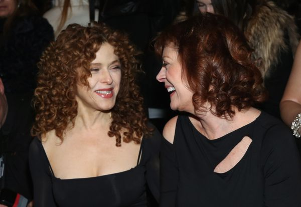 Bernadette Peters and Susan Sarandon attend the Donna Karan New York fashion show