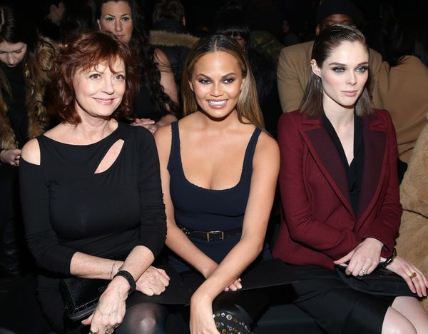 Susan Sarandon, Chrissy Teigen and Coco Rocha attend the Donna Karan New York fashion show