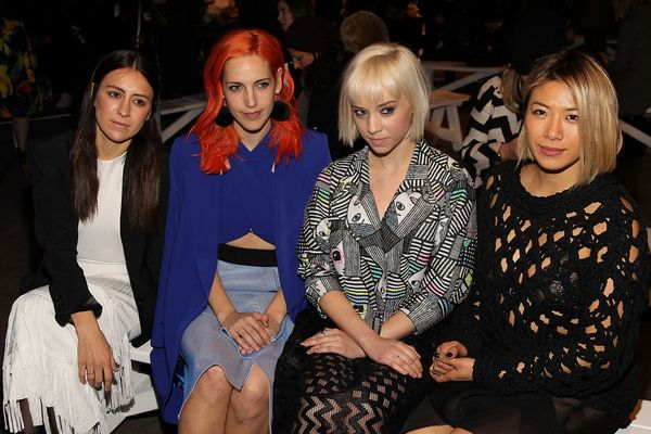 Nini Fabi, Lizzy Plapinger, Margot and May Kwok attend the Milly By Michelle Smith fashion show