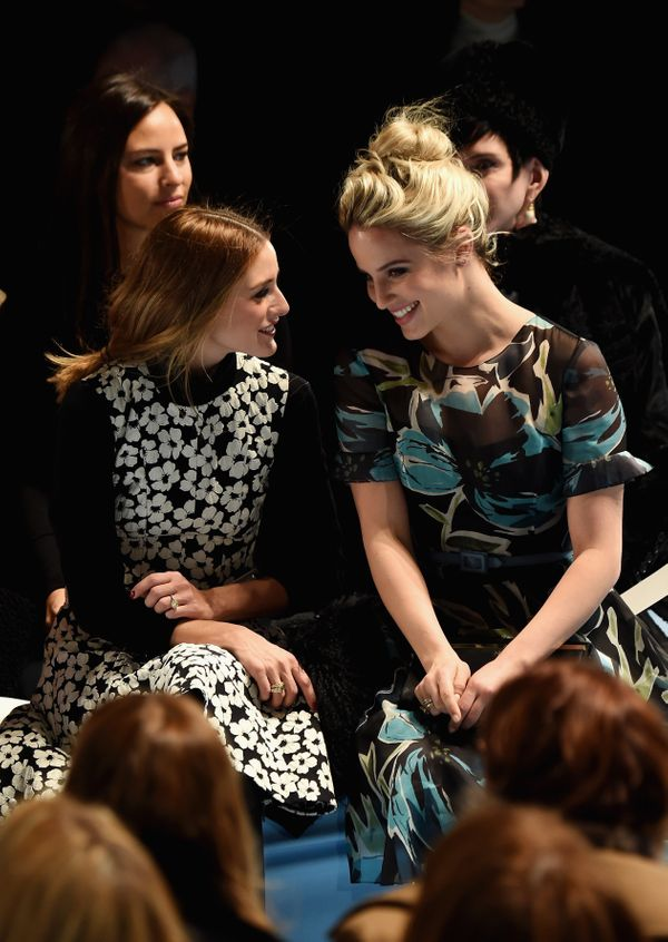 Olivia Palermo and actress Dianna Agron attend the Carolina Herrera fashion show