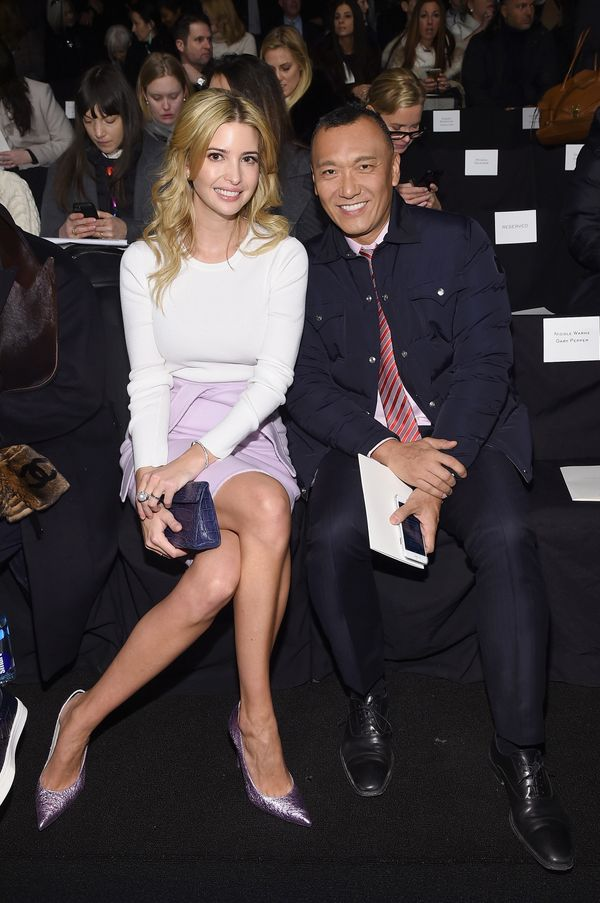 Ivanka Trump and Joe Zee attend the Carolina Herrera fashion show