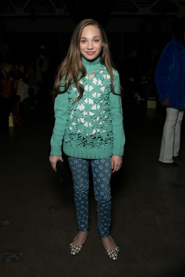 Dancer Maddie Ziegler attends the Karen Walker fashion show