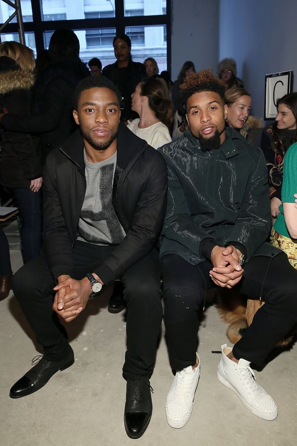 Chadwick Boseman and Odell Beckham attend Public School runway show