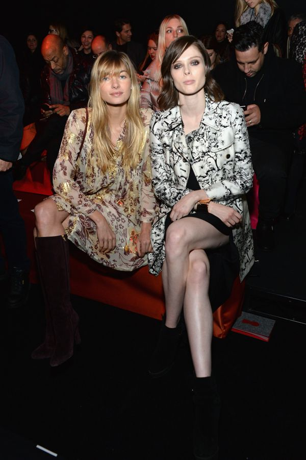 Jessica Hart and Coco Rocha attend the Diane Von Furstenberg fashion show