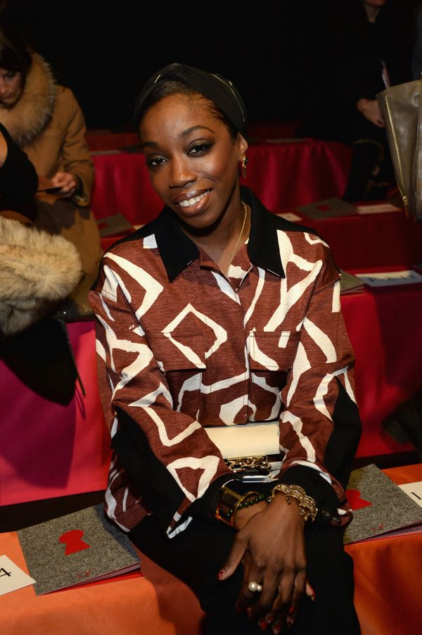 Estelle attends the Diane Von Furstenberg fashion show