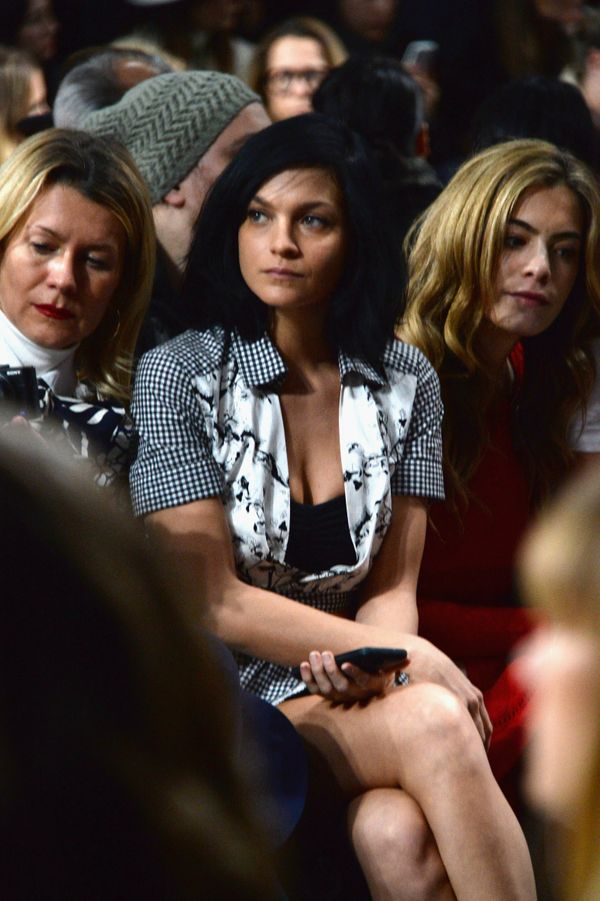 Leigh Lezark attends the Diane Von Furstenberg fashion show