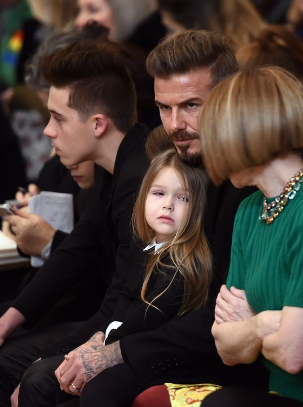 The Beckhams front row at Victoria Beckham