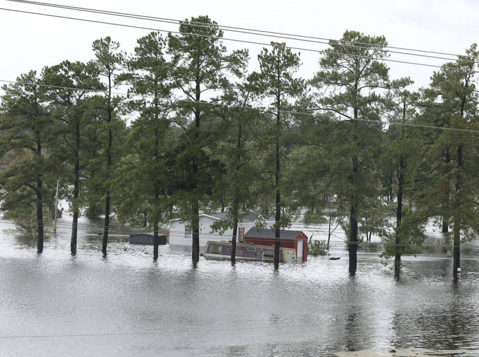 More flooding near Interstate Highway 95 in Lumberton.
