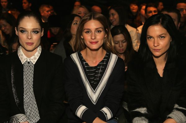NEW YORK, NY - FEBRUARY 14:  (L-R) Model Coco Rocha, Olivia Palermo, and DJ Leigh Lezark attend the Noon By Noor fashion show