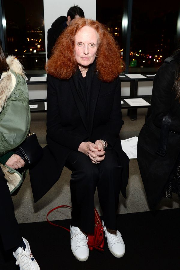 Grace Coddington attends the Altuzarra fashion show