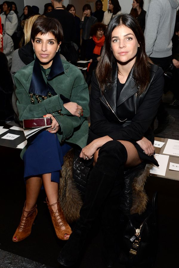 Princess Deena Aljuhani Abdulaziz (L) and Julia Restoin Roitfeld attend the Altuzarra fashion show