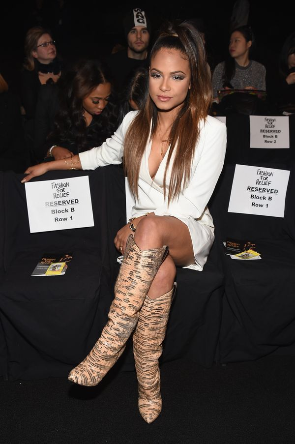 Christina Milian attends Naomi Campbell's Fashion For Relief Charity Fashion Show