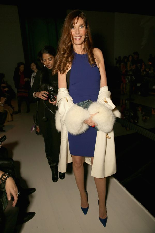 Carol Alt attends the Nicole Miller fashion show